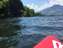 Rotzloch paddle board spot in Switzerland