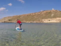 Gnejea beach paddle board spot in Malta