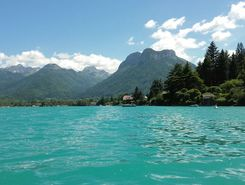 Doussard Bout du lac d'Annecy spot de stand up paddle en France