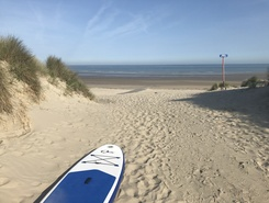 Westende-Bad paddle board spot in Belgium