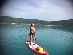 Les dalles lac St voix spot de stand up paddle en France