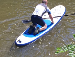 First test freshwater spot de stand up paddle en Belgique