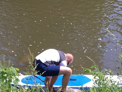 First test freshwater paddle board spot in Belgium