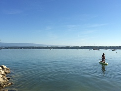 Murtensee paddle board spot in Switzerland