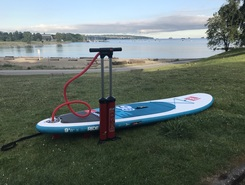 Sunset beach  paddle board spot in Canada