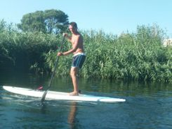 Just paddling paddle board spot in Italy