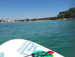 porto colom  sitio de stand up paddle / paddle surf en España