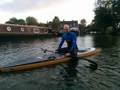 Culham lock paddle board spot in United Kingdom