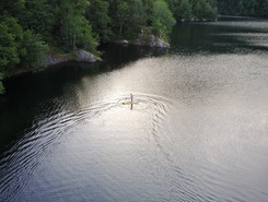 Lac d'Alfeld spot de stand up paddle en France