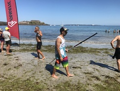 Saints bay to portelet paddle board spot in Guernsey