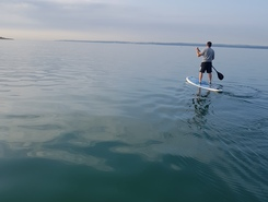 Stokes Bay paddle board spot in United Kingdom