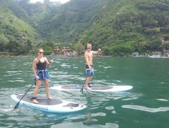 Lago Atitlan paddle board spot in Guatemala