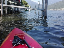 Morcote sitio de stand up paddle / paddle surf en Suiza