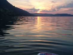 Walchwil Strandbad paddle board spot in Switzerland