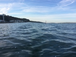 Shanklin beach paddle board spot in United Kingdom