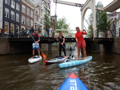 Amsterdam [haven-grachten-haven] paddle board spot in Netherlands