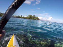 Lagon d'Arue paddle board spot in French Polynesia