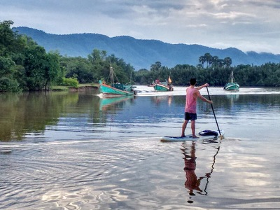 Kampot  paddle board spot in Cambodia