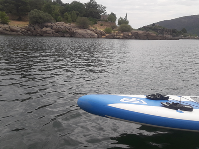 El Burguillo paddle board spot in Spain