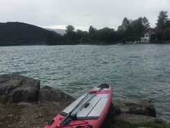 Balmettes paddle board spot in France