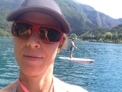 Lago di Ledro paddle board spot in Italy