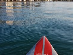 iseo see spot de stand up paddle en Italie
