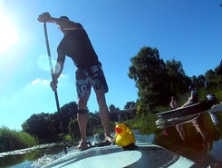 Dokkum city paddle board spot in Netherlands