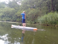Schwentine paddle board spot in Germany