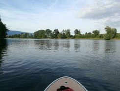 Sandloch paddle board spot in Switzerland