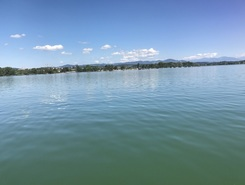 Greifensee paddle board spot in Switzerland