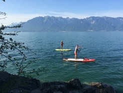 Corseaux plage  paddle board spot in Switzerland