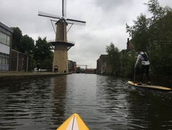 Schiedam paddle board spot in Netherlands
