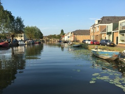 Vlaardingervaart paddle board spot in Netherlands