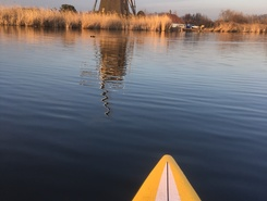 Rotterdam paddle board spot in Netherlands