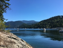 Deep Cove paddle board spot in Canada
