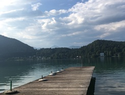 st kanzian / klop see paddle board spot in Austria