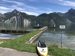 Traunsee paddle board spot in Austria