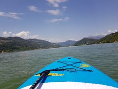Caslano paddle board spot in Switzerland