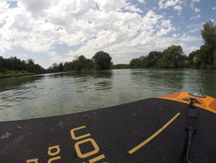 Aare Aarau paddle board spot in Switzerland