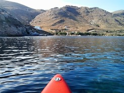 GREECE :  SERIFOS ISLAND :  KOUTALAS spot de stand up paddle en Grèce