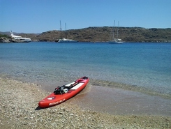GREECE :  KYTHNOS ISLAND :  FLYKADA paddle board spot in Greece