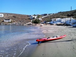 GREECE :  KYTHNOS ISLAND :  AGIOS STEPHANOS paddle board spot in Greece