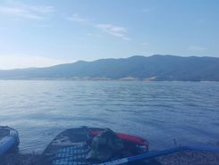 lake dospat paddle board spot in Bulgaria