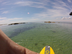 mousterlin paddle board spot in France