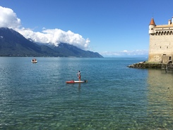 Clarens - Montreux paddle board spot in Switzerland