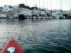 GREECE :  MILOS  ISLAND :  ADAMAS paddle board spot in Greece