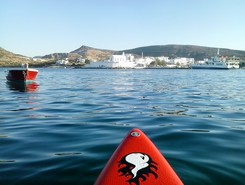 GREECE :  MILOS  ISLAND :  POLLONIA paddle board spot in Greece