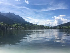 walchsee paddle board spot in Austria