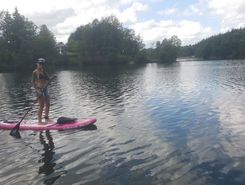 Lac de Robertville paddle board spot in Belgium