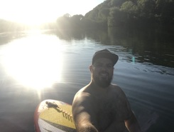 Doubs river Rancenay spot de stand up paddle en France